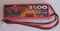 2500-8-2S - LiPo - 7,4Volts 3C - RX