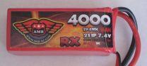 4000-8-2S - LiPo - 7,4Volts 3C - RX