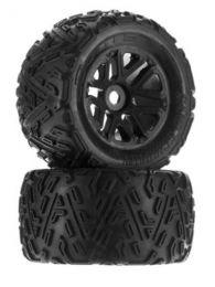 AR550010 Sand Scorpion MT 6S Tire Set Glued Black (2)