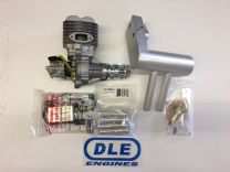 DLE-55cc Gas Engine with wrap around muffler