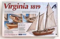 1/41 Virginia American Schooner Model Ship Kit