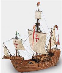 1/65 Carabela Santa Maria Wooden Model Ship Kit