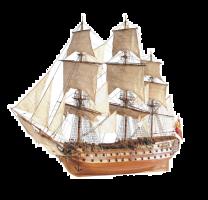 1/90 SJ Nepomuceno Wooden Model Ship Kit