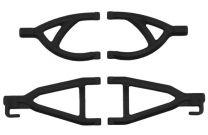 RPM Rear Upper & Lower A-Arms (1/16 E-Revo) (Black)