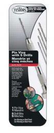 PIN VICE W/5 DRILL BITS