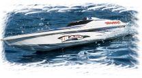 Blast Race Boat, RTR w/TQ 2.4Rx, White/Blue