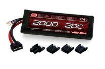 20C 7.4V 2000mAh 2S LiPo Battery: UNI Plug