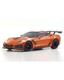 32334OR MINI-Z RWD Corvette ZR1 Sebring Orange w/LED