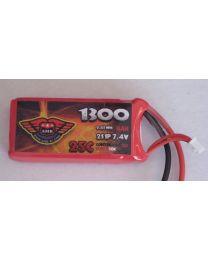 1300-25-2S - LiPo - 7,4Volts 25C