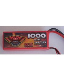 3000-8-2S - LiPo - 7,4Volts 3C - RX