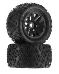 AR550010 Sand Scorpion MT 6S Tire Set Glued Black (2)