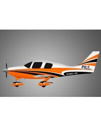 """Columbia 400-128"""" Scheme : 2 Orange/White"""