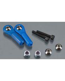 Swivel Ball Link 4-40 w/Hardware Blue (2)