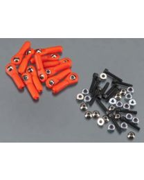 H/D Ball Link 4-40 w/Hardware Red (12)