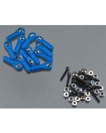 H/D Ball Link 4-40 w/Hardware Blue (12)