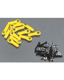 H/D Ball Link 4-40 w/Hardware Yellow (12)