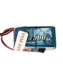 2500mAh 2S2P 7.4V LiPo JR-3P Plug - RX