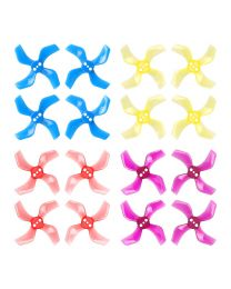 40mm 4-Blade Propellers (1.5mm Shaft) Multicolor (16pcs)