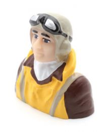 1/7 Scale WWII Pilot with Vest, Helmet & Goggles