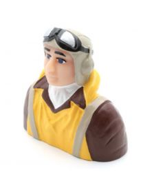 1/6 Scale WWII Pilot with Vest, Helmet & Goggles