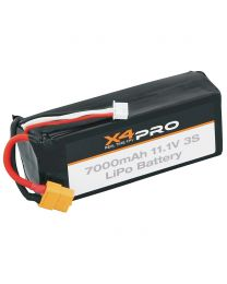 LiPo 3S 11.1V 7000mAh Battery Pack X4 Pro