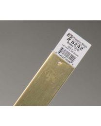 ".032 x 1"" Brass Strip (1 pc per card)"