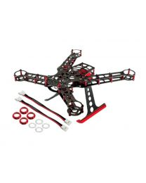 200 Size Quadcopter Frame Kit - Alum / CF: Red