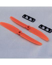 GemFan HD HQ 5030 5x3 CW CCW Propeller Prop for Mini QAV250 (orange )