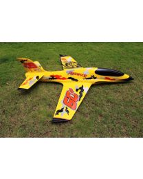 2.2m Predator Turbine Jet TR, Yellow/Black/Orange(04) & Thrust Vector