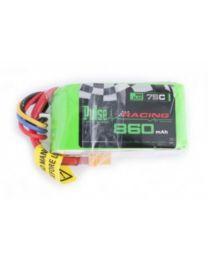 860-75C-3S  - Lipo 11,1 V - FPV RACING SERIES - XT30