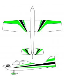 "Sky-wolf 88"" Green/White 03"