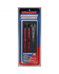 Aluminum Toe Link Rear Tubes, Red (2): TMX,EMX