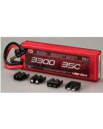 35C 11.1v 3300mAh 3S 1P LiPo Battery, Uni Plug