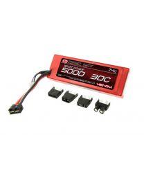 30C 5000mAh 7.4v 2S1P Hard Case, LiPO, UNI Plug