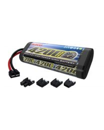 6-Cell 7.2V 4200mAh NiMH Flat Battery: UNI Plug