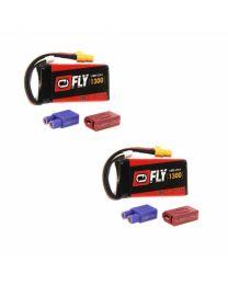 LiPo 3S 11.1V 1300mAh 30C UNI 2.0 Plug (2)
