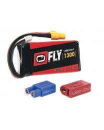 LIPO 3S 11.1V 1300MAH 30C Universal Plug 2.0 Fly