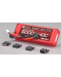 LiPo 2S 7.4V 5000mAh 40C Sport Power Univ Plug