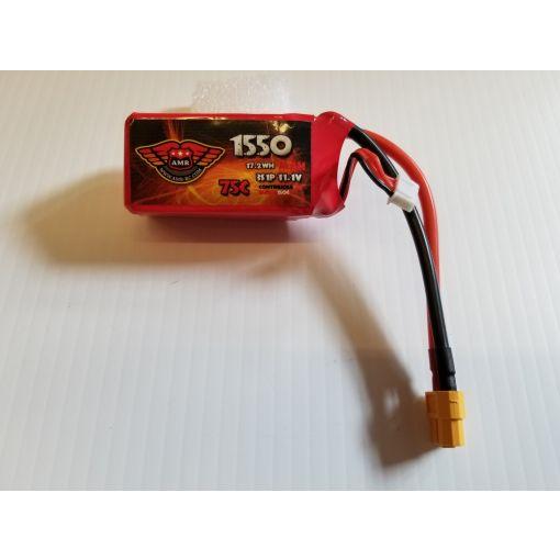 1550-75C-3S - LiPo - 11,1V W/XT60