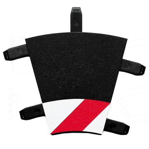 Inside shoulder curve 1/30° (6), end piece (2)