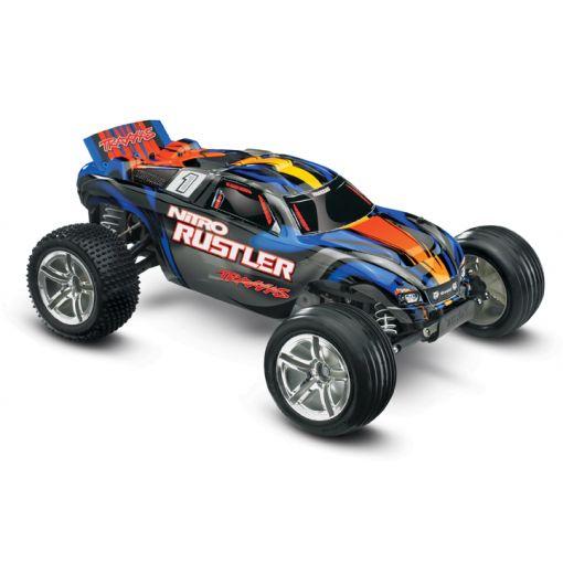1/10 Nitro Rustler RTR 2WD w/ TSM, TQ 2.4GHz; Blue