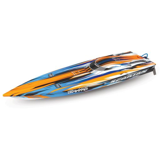 "Traxxas Spartan Brushless 36"" Race Boat, Orange"