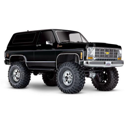 1/10 Traxxas TRX-4 1979 Chevy Blazer Crawler, XL-5 HV, Titan 12T Black