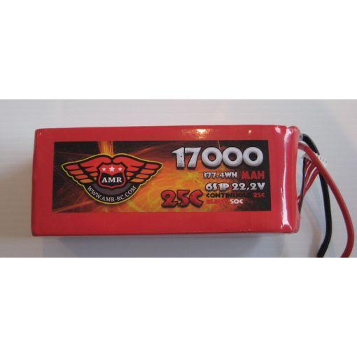 17000-25-6S - LiPo - 22,2Volts 25C