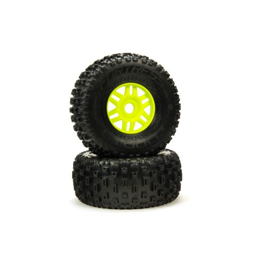 dBoots Fortress Tyre Set Glued Green (Pair)