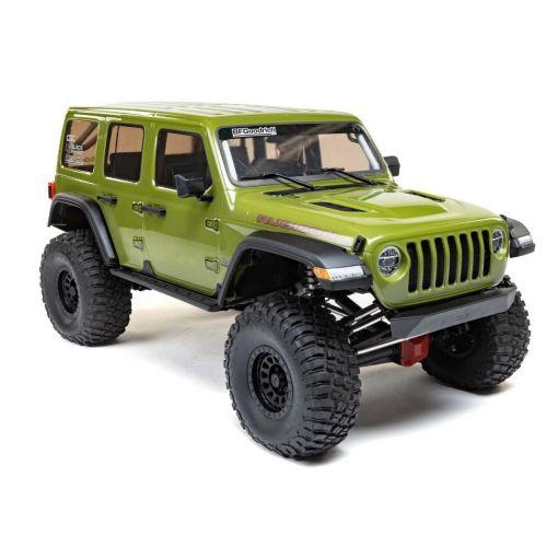1/6 SCX6 Jeep JLU Wrangler 4WD Rock Crawler RTR: Green