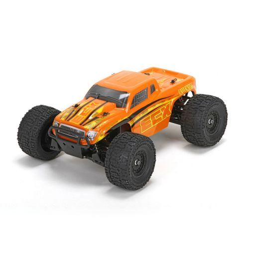 1/18 Ruckus 4WD Monster Truck: Orange/Yellow RTR