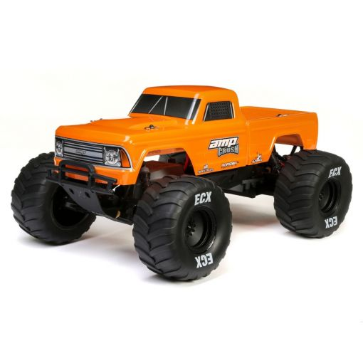 1/10 Amp Crush 2WD Monster Truck Brushed RTR, Orange
