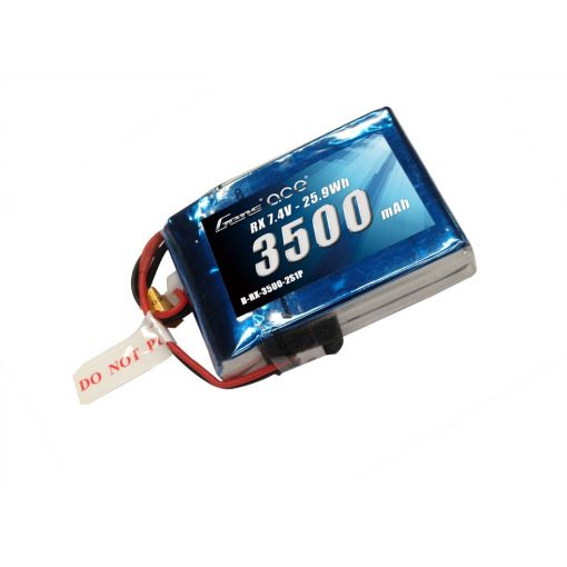 3500mAh 2S1P 7.4V Receiver LiPo EC3 Plug Soft Case