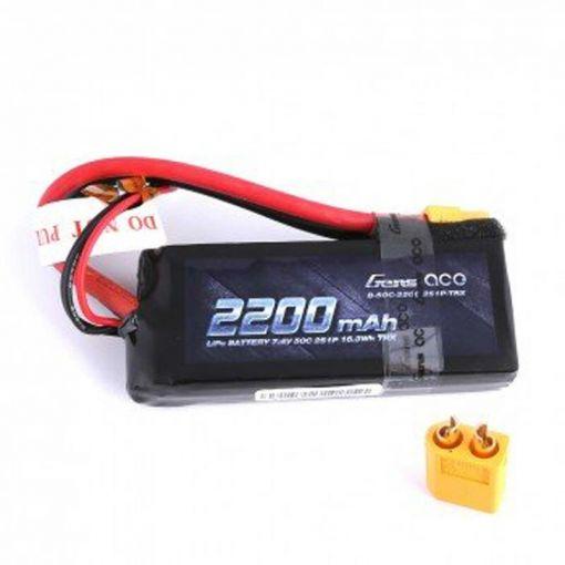 2200mAh 7.4V 50C 2S1P Lipo Battery Pack with XT60